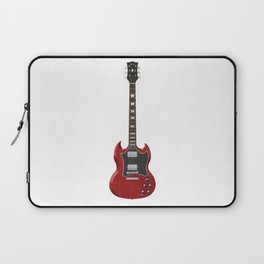 Red Electric Guitar Laptop Sleeve