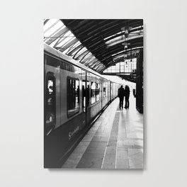 S-Bahn Berlin black and white photo Metal Print
