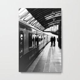 S-Bahn Berlin black and white photo Metal Print