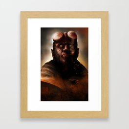 THE BOY FROM HELL Framed Art Print