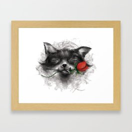 Valentine's Fox Framed Art Print