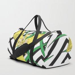 Giant Trimezia Floral Duffle Bag