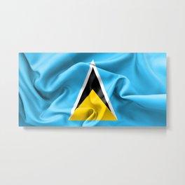 Saint Lucia Flag Metal Print