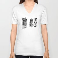 nail polish V-neck T-shirts featuring Nail Polish by BUMMERAMA