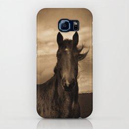 English horse in sepia tones iPhone Case