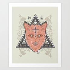 Fox illustration Art Print