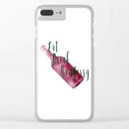 Eat Drink Be Merry Clear iPhone Case
