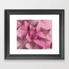 Geometric Pink Mind #society6 Framed Art Print