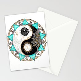 Yin and Yang Mandala Stationery Cards
