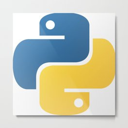 Python Metal Print