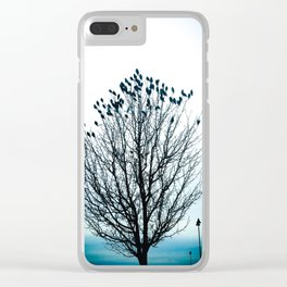Birds & Bare Tree Clear iPhone Case