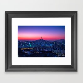 Twilight Seoul Framed Art Print