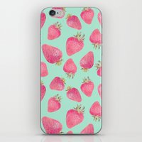 strawberry iPhone & iPod Skins featuring Strawberry  by Marta Olga Klara
