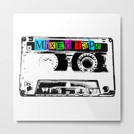 Mixed Tape Cassette Metal Print