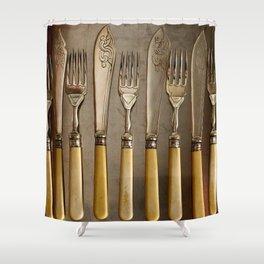 Vintage Cutlery - Kitchen Decor Shower Curtain