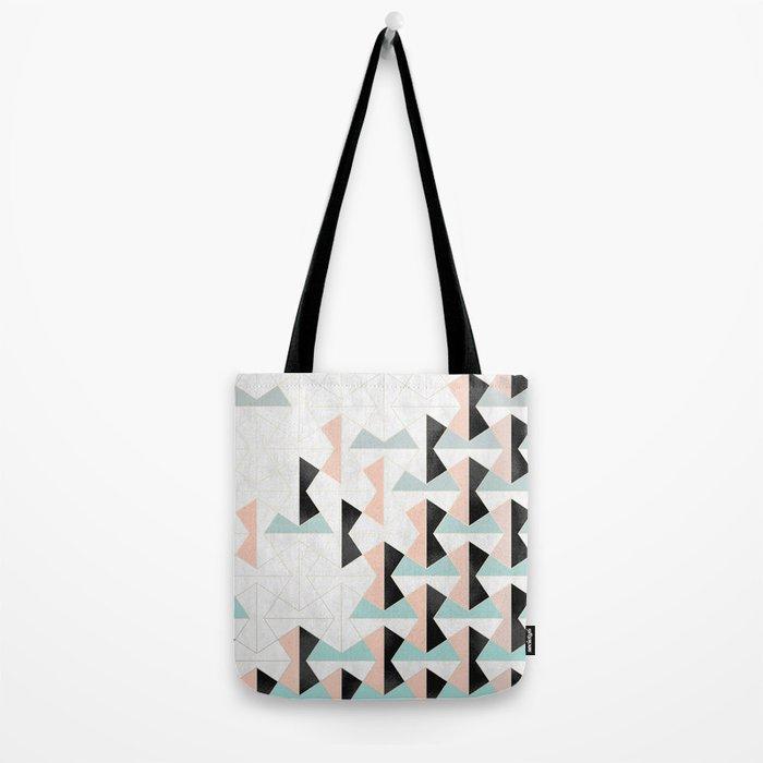Mixed Material Tiles Tote Bag