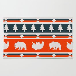Winter bears and trees Rug