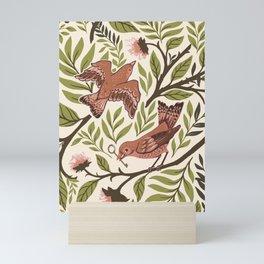 Secret Garden Spring Birds Mini Art Print