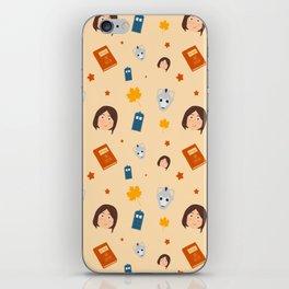 Clara Oswald Pattern iPhone Skin