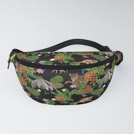 Animals of the Amazon jungle print Fanny Pack
