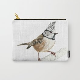European crested tit, Lophophanes cristatus Carry-All Pouch