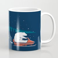 grand theft auto Mugs featuring Grand Theft Arctic by maudie&ma