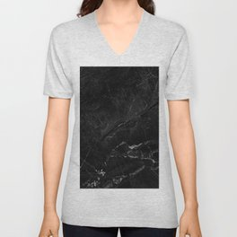 Black abstract natural marble pattern - beautiful home decor Unisex V-Neck