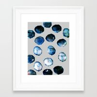 mineral Framed Art Prints featuring mineral 03 by LEEMO