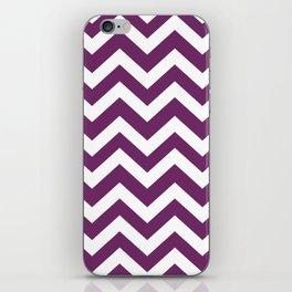 Byzantium - violet color -  Zigzag Chevron Pattern iPhone Skin