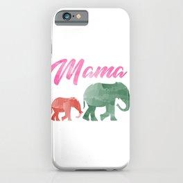 Mama Elephant iPhone Case