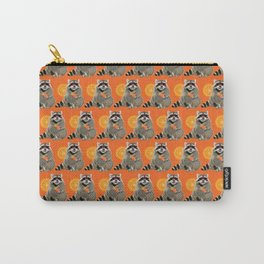 Cool raccoon pattern Carry-All Pouch
