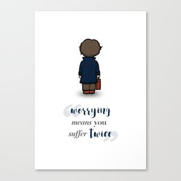 Worrying means you suffer twice - Newt Scamander Canvas Print