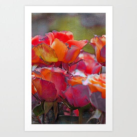 Romantic roses(9). Art Print