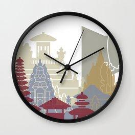 Bali skyline poster Wall Clock