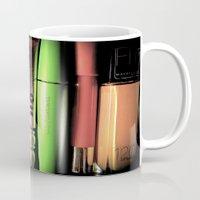 makeup Mugs featuring Makeup Madness by ellevaz