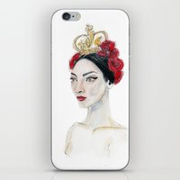 crown iPhone & iPod Skins featuring Crown  by Illustrating Mode by L.S.
