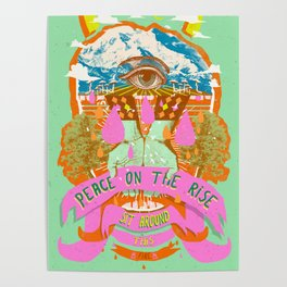 PEACE ON THE RISE Poster