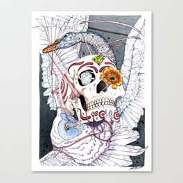 The Owl and the Swan Canvas Print