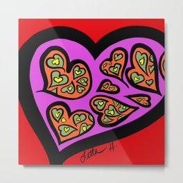 B - HEART OF HEARTS Metal Print