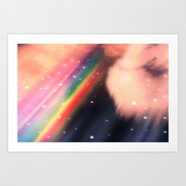 Under The Rainbow Sky 2 Art Print