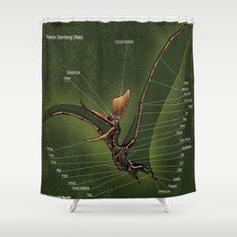 Male Pteranodon Sternbergi Skeleton Shower Curtain