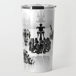 White room - black chandeliers. Travel Mug