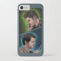 destiel iPhone & iPod Cases featuring Destiel Love Calls by Cinensis
