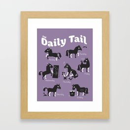 The Daily Tail Horse Framed Art Print