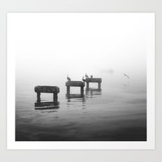 Fog and Ocean Art Print