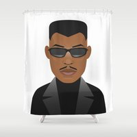blade runner Shower Curtains featuring Blade by Capitoni