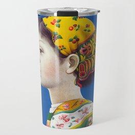 Retro Japanese Cosmetic Advertisement Travel Mug