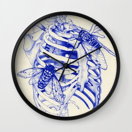 collarbone blue Wall Clock