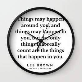 28  |  Les Brown  Quotes | 190824 Wall Clock