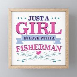 Fishing Couples Love Angling Fishermen Fish Gift Framed Mini Art Print